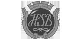 Logo för HSB, där många medlems-brf har underhållsplan i Planima