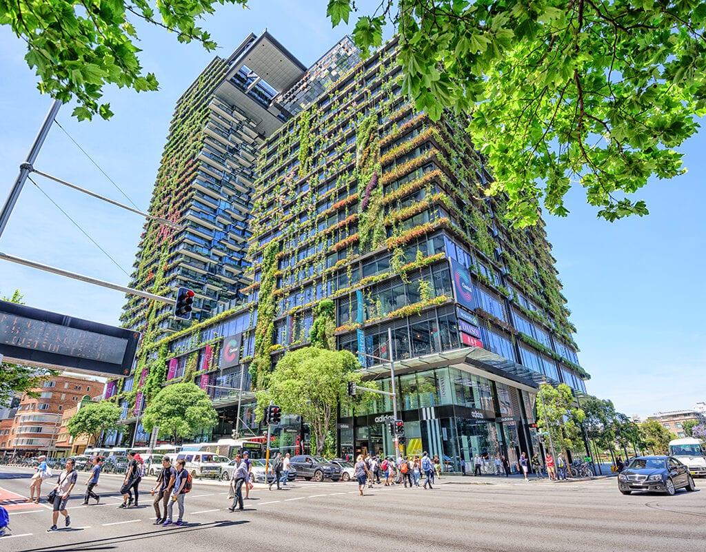 Bild som visar hållbar byggnad