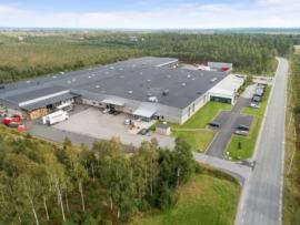 Logistikfastigheten HIllerstorp 2:106 i Gnosjö, en fastighet som Emilshus kommer att underhållsplanera med Planima.